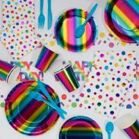 Creative Converting™ 81-Piece Rainbow Birthday Party Supplies Kit