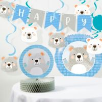 Creative Converting™ 8-Piece Bear Party Birthday Decorations Kit in Blue