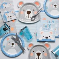 Creative Converting™ 81-Piece Bear Baby Shower Party Supplies Kit in Blue