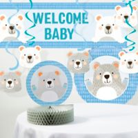 Creative Converting™ 8-Piece Bear Baby Shower Decorations Kit in Blue