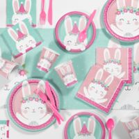 Creative Converting™ 81-Piece Bunny Birthday Party Supplies Kit in Pink