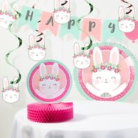 Creative Converting™ 8-Piece Bunny Birthday Party Supplies Kit in Pink