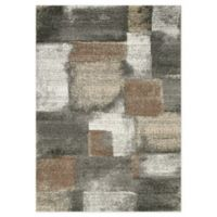 """Novelle Home Patches 6'7"""" X 9'6"""" Area Rug in Blue"""