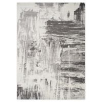 """Novelle Home Brush Paint 5'3"""" X 7'7"""" Area Rug in Grey"""