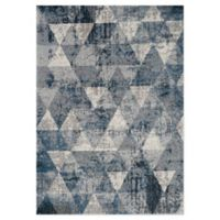 """Novelle Home Triangle 5'3"""" X 7'7"""" Area Rug in Blue"""