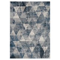 """Novelle Home Triangle 7'10"""" X 10'6"""" Area Rug in Blue"""