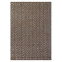 Fab Habitat™ Acadia 4' X 6' Woven Area Rug in Brown