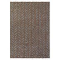 Fab Habitat™ Acadia 8' X 10' Woven Area Rug in Brown