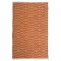 Fab Habitat™ Windsor 5' X 8' Woven Area Rug in Orange