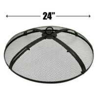 EasyGo 24-Inch Round Fire Pit Cover in Black