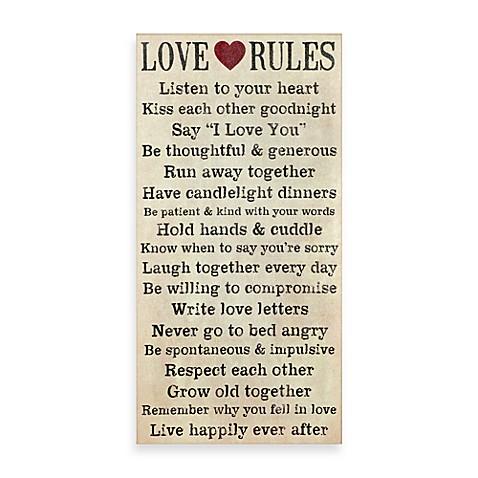 Love Rules Wall Art - Bed Bath & Beyond