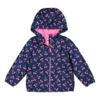 OshKosh B'gosh® Size 3T Cherry Hooded Jacket in Navy
