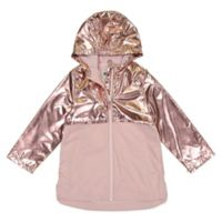 OshKosh B'gosh® Size 4T 2-Tone Metallic Zipperd Rain Slicker in Pink