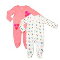 Rosie Pope Baby® Size 0-3M 2-Pack Dot and Balloons Coveralls