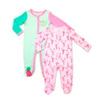 Rosie Pope Baby® Size 3-6M 2-Pack Flamingo and Pineapple Coveralls