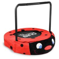 Pure Fun® 36-inch Ladybug Plush Jumper Kids Trampoline with Handrail in Red