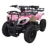 MotoTec 24-Volt Mini Quad V4 Battery-Powered Ride-On in Pink