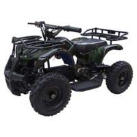 MotoTec 24-Volt Mini Quad V4 Battery-Powered Ride-On in Camo Green