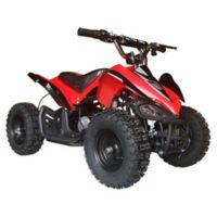 MotoTec 24-Volt Mini Quad V2 Battery-Powered Ride-On in Red