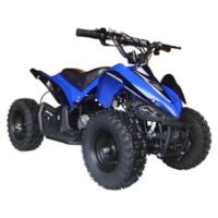 MotoTec 24-Volt Mini Quad V2 Battery-Powered Ride-On in Blue