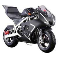 MotoTec Cali 40cc 2-Stroke Gas-Powered Pocket Bike in White