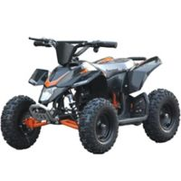 MotoTec 24-Volt Mini Quad V3 Battery-Powered Ride-On in Black