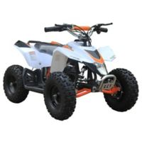 MotoTec 24-Volt Mini Quad V3 Battery-Powered Ride-On in White
