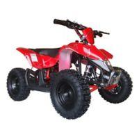 MotoTec 24-Volt Mini Quad V3 Battery-Powered Ride-On in Red