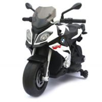 Rastar BMW 12-Volt Electric Motorcycle Ride-On in White