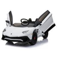 Mini Moto 12-Volt Lamborghini Electric Ride-On in White