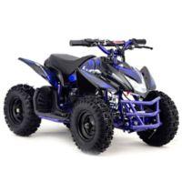 MotoTec 24-Volt Mini Quad Titan V5 Battery-Powered Ride-On in Blue