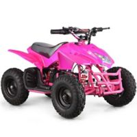 MotoTec 24-Volt Mini Quad Titan V5 Battery-Powered Ride-On in Pink