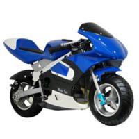 MotoTec 33cc 2-Stroke Gas-Powered Pocket Bike in Blue