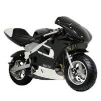 MotoTec 33cc 2-Stroke Gas-Powered Pocket Bike in Black