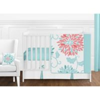 Sweet Jojo Designs Emma 11-Piece Crib Bedding Set in White/ Turquoise