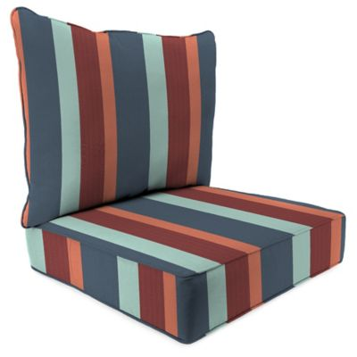 Superbe Stripe 24 Inch X 24 Inch 2 Piece Deep Seat Chair Cushion In