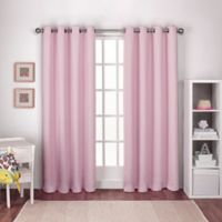 Textured Woven Grommet Top Room Darkening Window Curtain Panel Pair