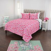 Simply Southern Pineapple/Flower Reversible Twin XL Quilt Set in Blue