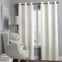 Hartsville Textured 4-Pack 108-Inch Grommet Window Curtain Panel Set in Beige