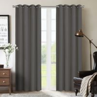 Therapedic® Nantes 63-Inch 100% Blackout Grommet Window Curtain Panel in Grey