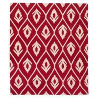 ECARPETGALLERY Ankara Kilim 8'2 x 9'11 Flat-Weave Area Rug in Red/Cream