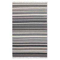 ECARPETGALLERY One of a Kind Izmir 5' x 8' Flat-Weave Area Rug in Grey