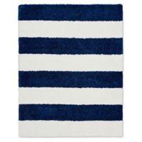 Calvin Klein® Chicago Tufted Striped Shag 4' x 6' Area Rug in White/Navy