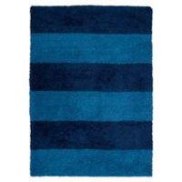 Calvin Klein® Chicago Tufted Striped Shag 4' x 6' Area Rug in Blue