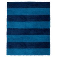 Calvin Klein® Chicago Tufted Striped Shag 8' x 10' Area Rug in Blue