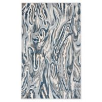 "Liora Manne Marble 3'3"" X 4'11"" Woven Area Rug in Blue"