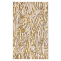 "Liora Manne Marble 3'3"" X 4'11"" Woven Area Rug in Cream"