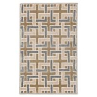 """Liora Manne Deco 2'1"""" X 2'11"""" Woven Area Rug in Tan"""