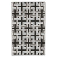 """Liora Manne Deco 2'1"""" X 2'11"""" Woven Area Rug in Charcoal"""