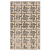 """Liora Manne Deco 4'10"""" X 7'6"""" Woven Area Rug in Tan"""